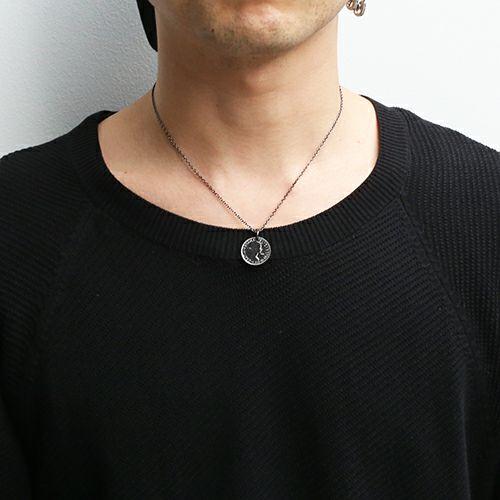 シックスペンスコインネックレス -BLACK-