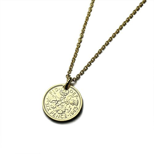 ネックレス / シックスペンスコインネックレス メンズ シルバー ゴールド 人気 ブランド おすすめ 硬貨 本物 プレゼント 誕生日 ギフト