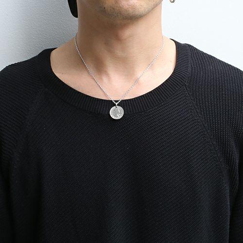 【ジャムホームメイド(JAMHOMEMADE)】コイン ネックレス ヴィンテージ シックスペンスコイン - ロジウム