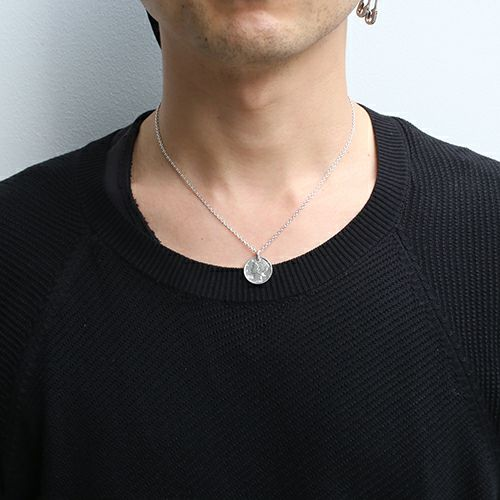 【JAM HOME MADE(ジャムホームメイド)】マーキュリーコインネックレス メンズ シルバー ブラック 人気 ブランド おすすめ 硬貨 本物 プレゼント 誕生日 ギフト