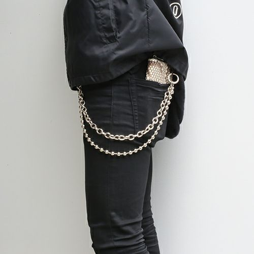財布キーチェーン / はじめてのウォレットチェーン (3点セット) メンズ おすすめ ブランド 人気 シルバー 財布 チェーン シンプル ボール キヘイ あずき プチプラ デビュー