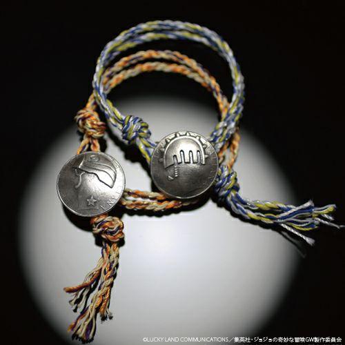 【ジャムホームメイド(JAMHOMEMADE)】『ジョジョの奇妙な冒険』 コイン ブレスレット(ブローノ・ブチャラティ)