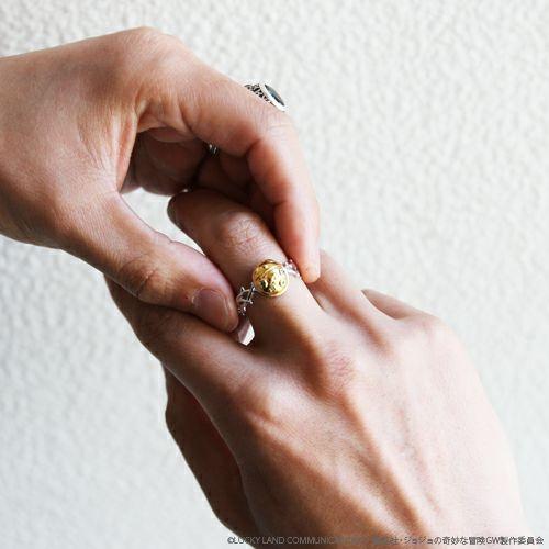【JAM HOME MADE(ジャムホームメイド)】『ジョジョの奇妙な冒険』黄金の風リング 指輪 メンズ レディース 人気 おすすめ ブランド コラボ アクセサリー 5部 限定 JOJO スタンド ゴールド エクスペリエンス ジョルノ 天道虫 テントウ