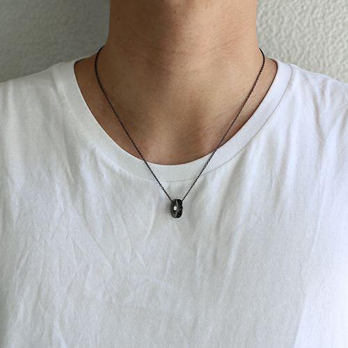 ネックレス / エターナルネックレス -BLACK- メンズ レディース ユニセックス ペア ペアネックレス 人気 おすすめ ブランド スワロ シンプル 石