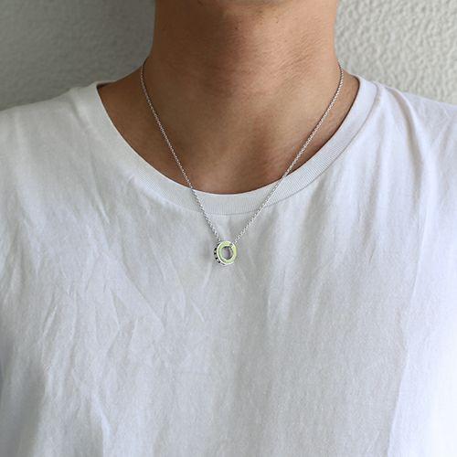 ネックレス / エターナルネックレス -SILVER- メンズ レディース ユニセックス ペア ペアネックレス 人気 おすすめ ブランド スワロ シンプル 石