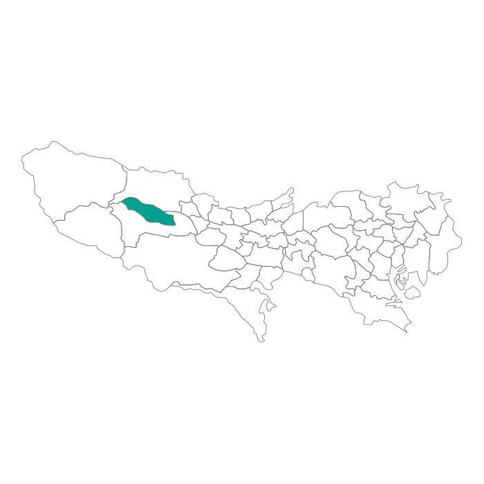 日本地図  東京都  日の出町ネックレス / ネックレス