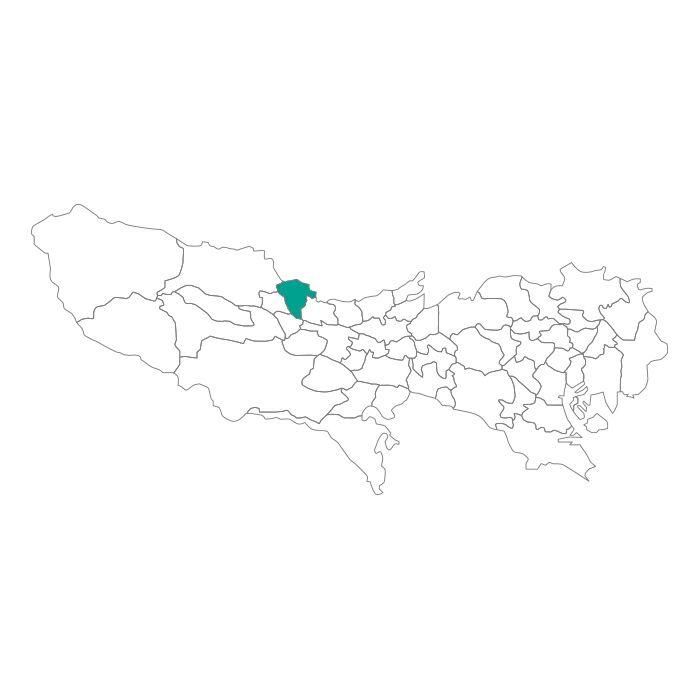 日本地図  東京都  瑞穂町ネックレス