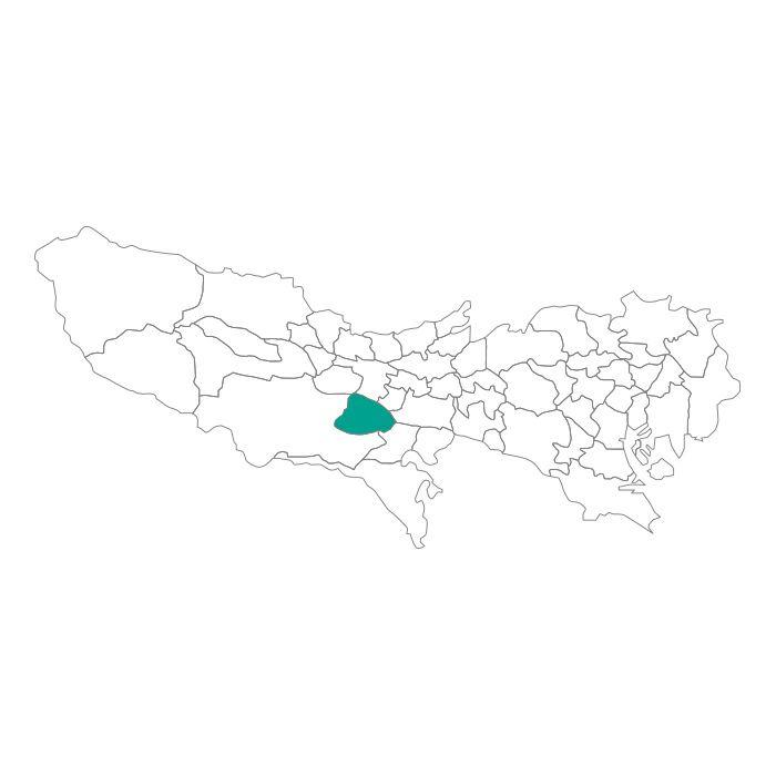 日本地図  東京都  日野市ネックレス