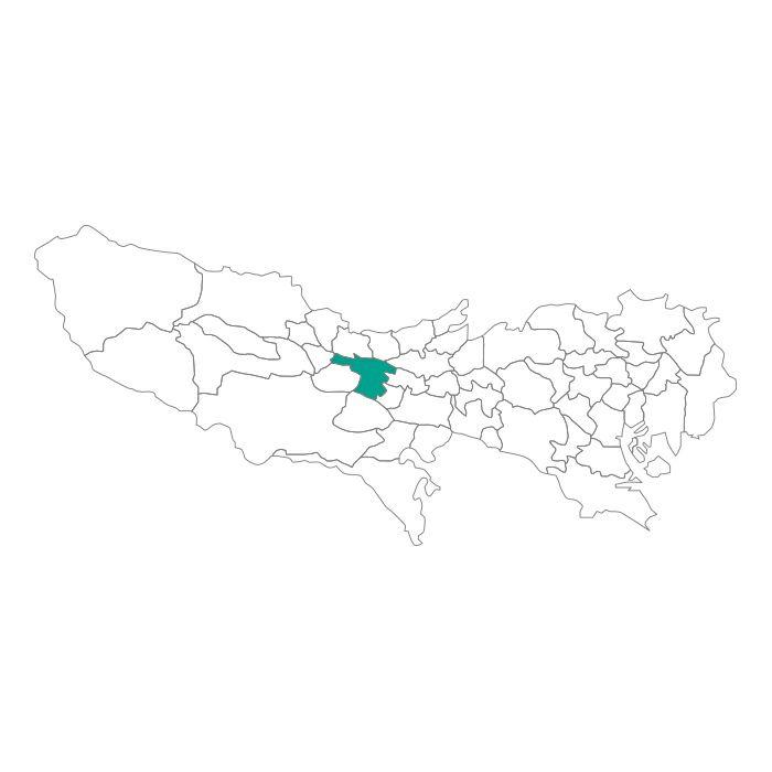 日本地図  東京都  立川市ネックレス / ネックレス