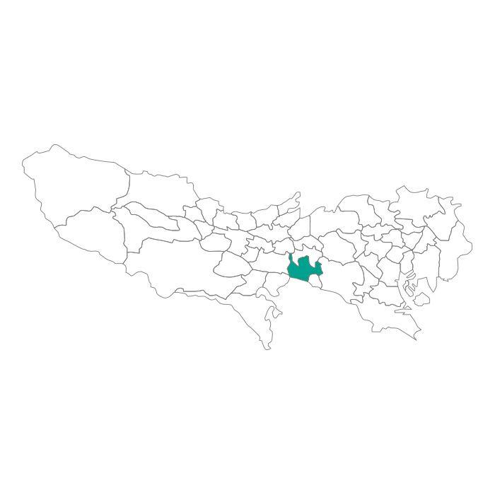 【ジャムホームメイド(JAMHOMEMADE)】日本地図  東京都  調布市 ネックレス