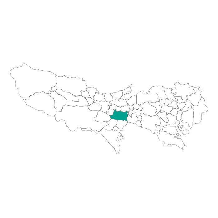 【ジャムホームメイド(JAMHOMEMADE)】日本地図  東京都  府中市 ネックレス