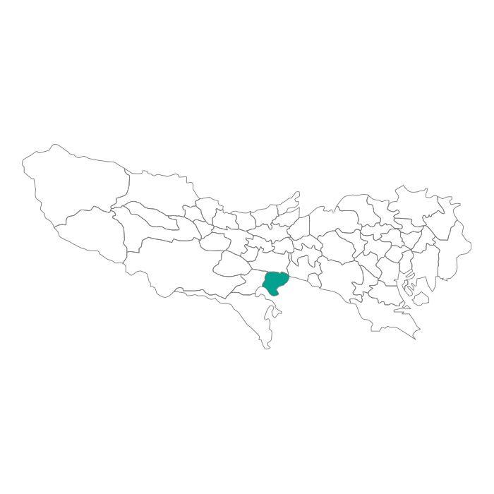 【ジャムホームメイド(JAMHOMEMADE)】日本地図  東京都  稲城市 ネックレス
