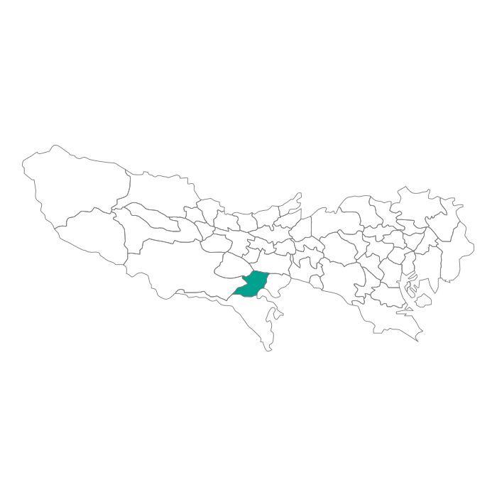 【ジャムホームメイド(JAMHOMEMADE)】日本地図  東京都  多摩市 ネックレス