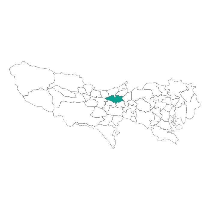 【ジャムホームメイド(JAMHOMEMADE)】日本地図  東京都  小平市 ネックレス