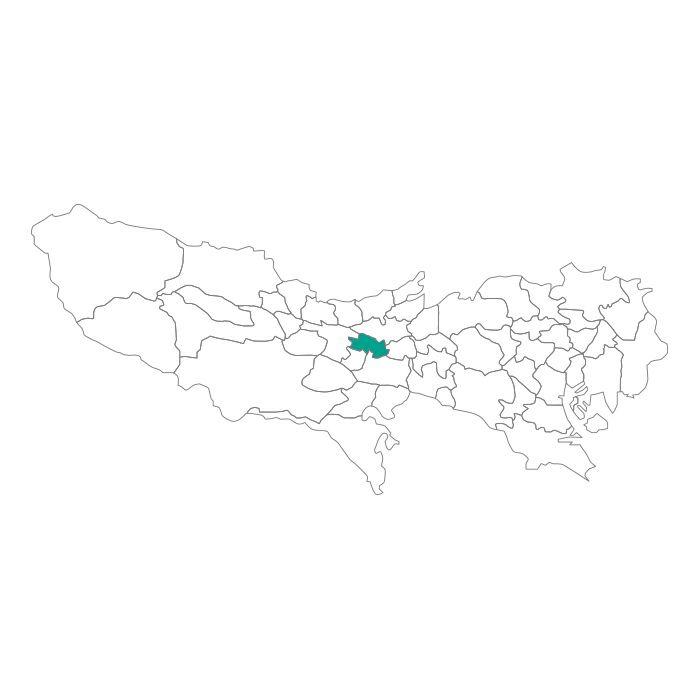 【ジャムホームメイド(JAMHOMEMADE)】日本地図  東京都  国分寺市 ネックレス