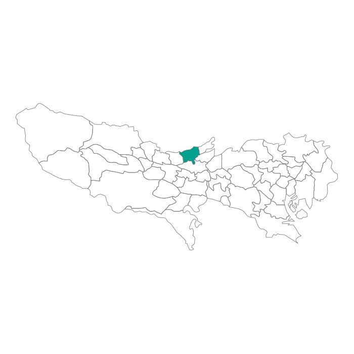 【JAM HOME MADE(ジャムホームメイド)】日本地図 東京都 東村山市ネックレス メンズ レディース ペア シルバー ブランド おすすめ ギフト プレゼント シンプル プレート ご当地 グッズ 都道府県 23区 TOKYO