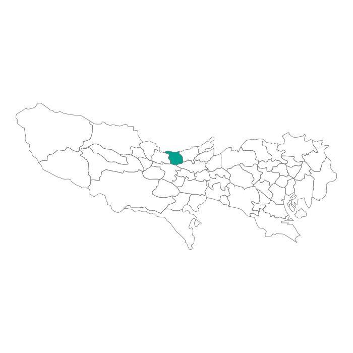 【ジャムホームメイド(JAMHOMEMADE)】日本地図  東京都  東大和市 ネックレス