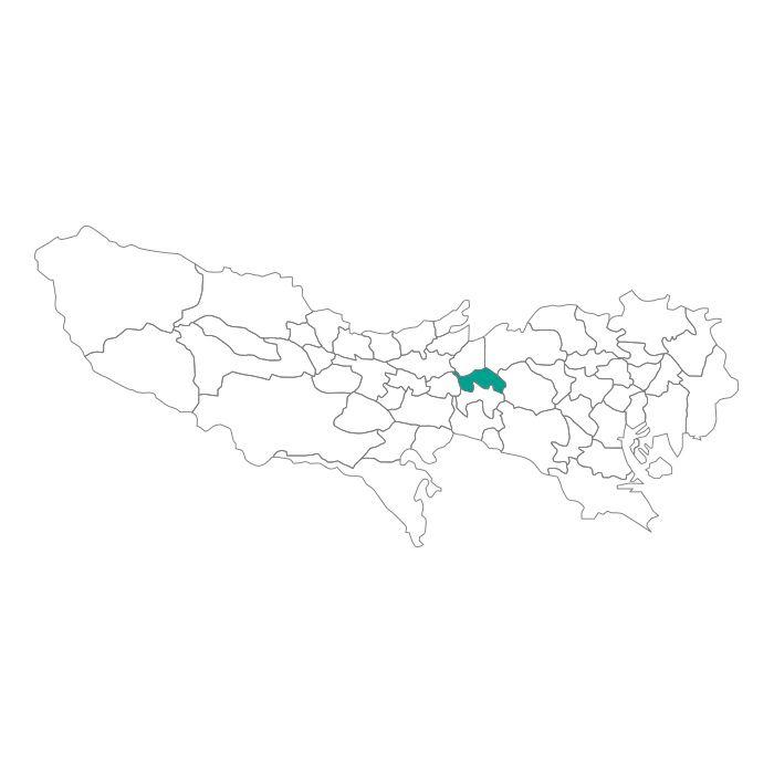 ネックレス / 日本地図 東京都 武蔵野市ネックレス メンズ レディース ペア シルバー ブランド おすすめ ギフト プレゼント シンプル プレート ご当地 グッズ 都道府県 23区 TOKYO