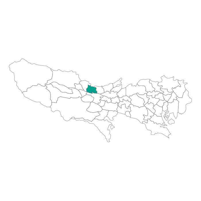 日本地図  東京都  武蔵村山市ネックレス / ネックレス