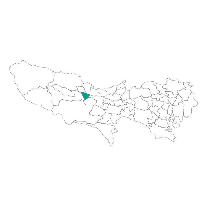 【ジャムホームメイド(JAMHOMEMADE)】日本地図  東京都  福生市 ネックレス