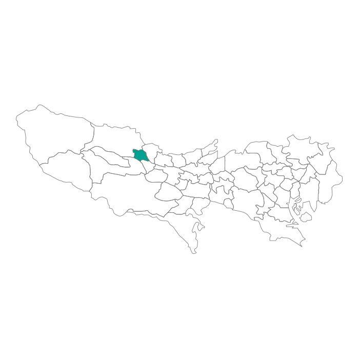 日本地図  東京都  羽村市ネックレス