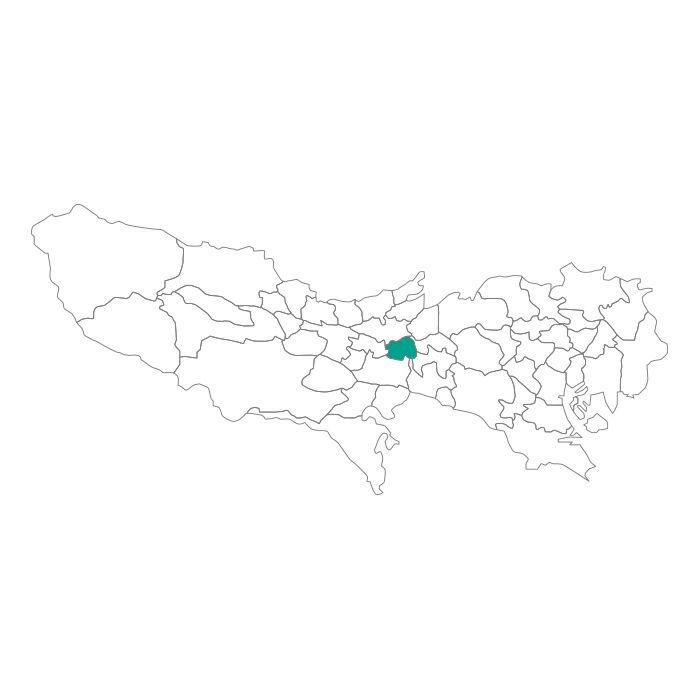 日本地図  東京都  小金井市ネックレス