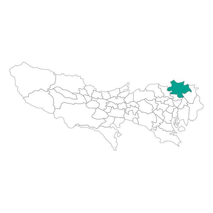 【JAM HOME MADE(ジャムホームメイド)】日本地図 東京都 足立区ネックレス メンズ レディース ペア シルバー ブランド おすすめ ギフト プレゼント シンプル プレート ご当地 グッズ 都道府県 23区 TOKYO