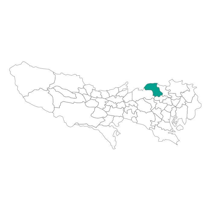 日本地図  東京都  板橋区ネックレス