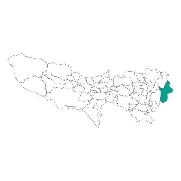 【JAM HOME MADE(ジャムホームメイド)】日本地図 東京都 江戸川区ネックレス メンズ レディース ペア シルバー ブランド おすすめ ギフト プレゼント シンプル プレート ご当地 グッズ 都道府県 23区 TOKYO