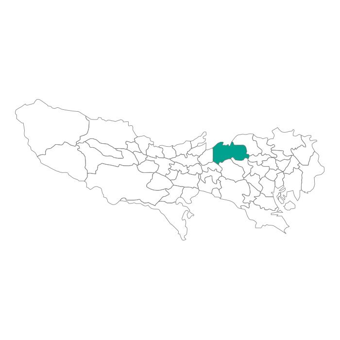 【JAM HOME MADE(ジャムホームメイド)】日本地図 東京都 練馬区ネックレス メンズ レディース ペア シルバー ブランド おすすめ ギフト プレゼント シンプル プレート ご当地 グッズ 都道府県 23区 TOKYO