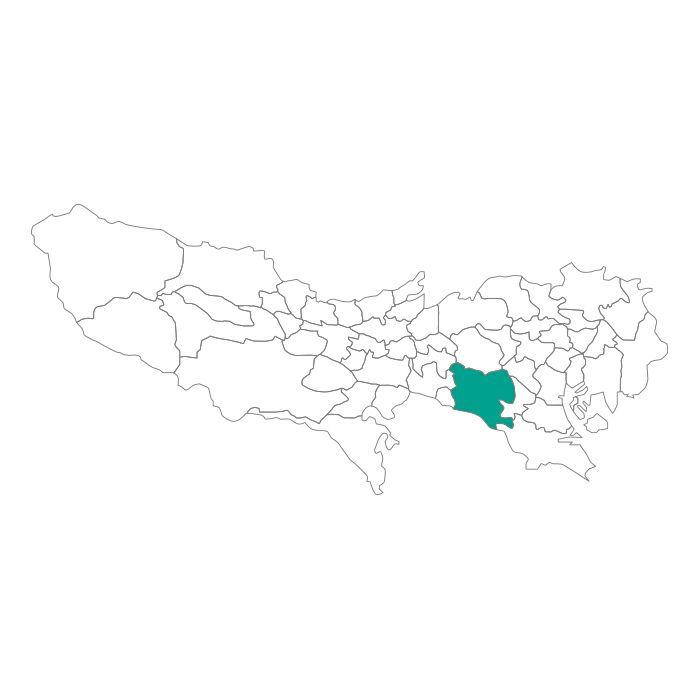 日本地図  東京都  世田谷区ネックレス