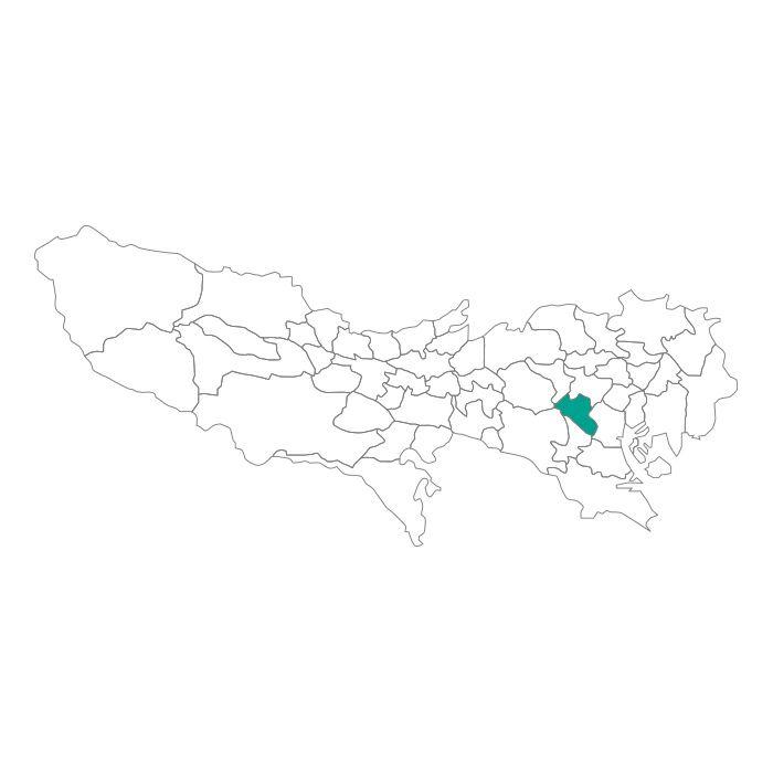 日本地図  東京都  渋谷区ネックレス