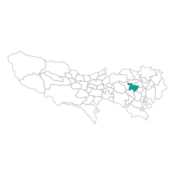 【ジャムホームメイド(JAMHOMEMADE)】日本地図  東京都  新宿区 ネックレス