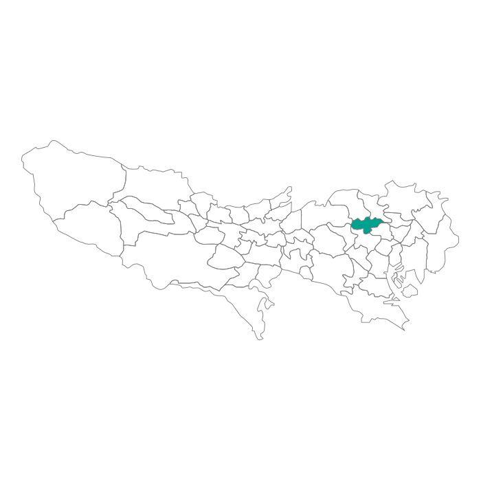 【ジャムホームメイド(JAMHOMEMADE)】日本地図  東京都  豊島区 ネックレス