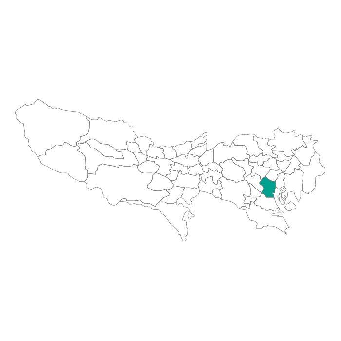 【JAM HOME MADE(ジャムホームメイド)】日本地図 東京都 港区ネックレス メンズ レディース ペア シルバー ブランド おすすめ ギフト プレゼント シンプル プレート ご当地 グッズ 都道府県 23区 TOKYO