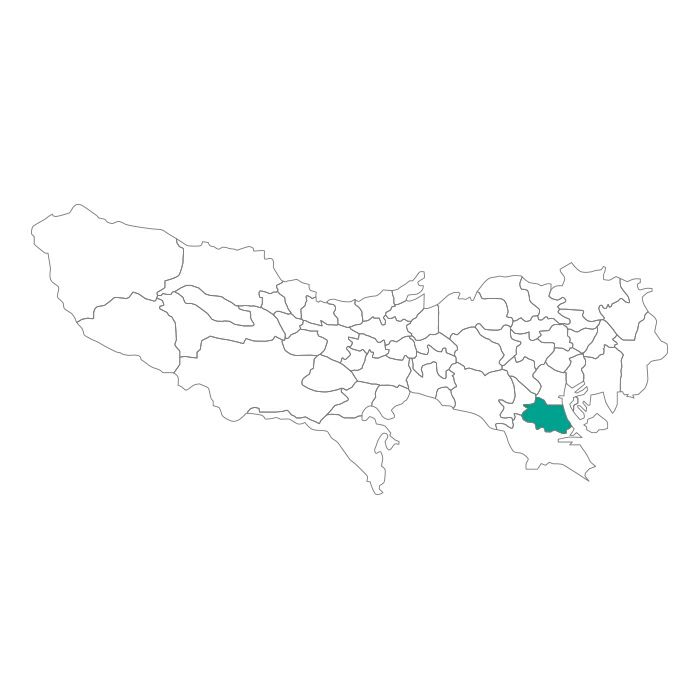 【JAM HOME MADE(ジャムホームメイド)】日本地図 東京都 品川区ネックレス メンズ レディース ペア シルバー ブランド おすすめ ギフト プレゼント シンプル プレート ご当地 グッズ 都道府県 23区 TOKYO
