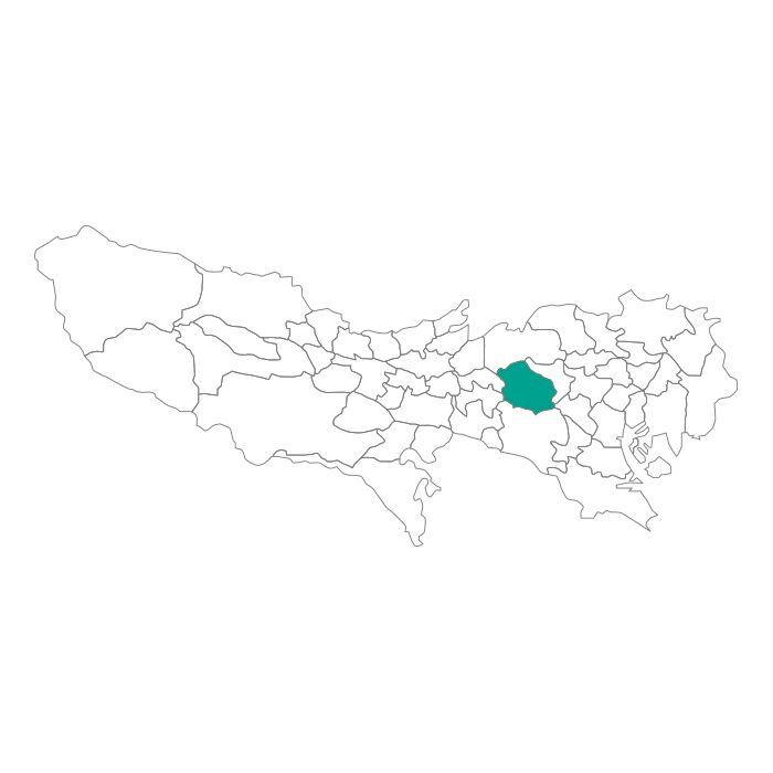 日本地図  東京都  杉並区ネックレス