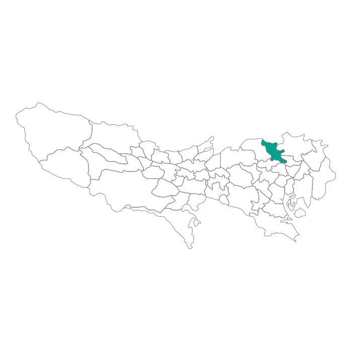 日本地図  東京都  北区ネックレス