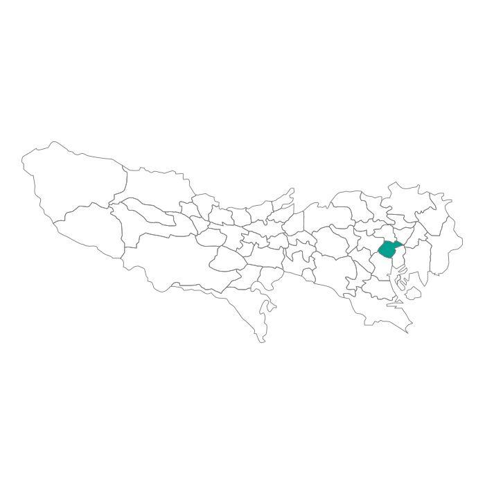 日本地図  東京都  千代田区ネックレス