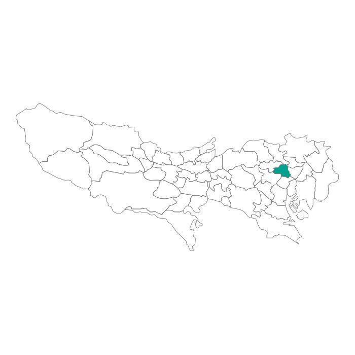 ネックレス / 日本地図 東京都 文京区ネックレス メンズ レディース ペア シルバー ブランド おすすめ ギフト プレゼント シンプル プレート ご当地 グッズ 都道府県 23区 TOKYO