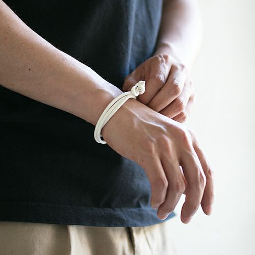 【JAM HOME MADE(ジャムホームメイド)】O型 ディア3巻ブレスレット -NEW TYPE- メンズ シルバー 925 ブランド 人気 おすすめ シンプル ブレスレット プレゼント ギフト レザー 鹿革 夏 アンクレット
