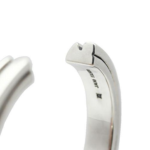 【JAM HOME MADE(ジャムホームメイド)】AB型 バングル L -NEW TYPE- メンズ シルバー 925 人気 おすすめ ブランド シンプル ブレスレット ダイヤモンド ネイティブ 高級