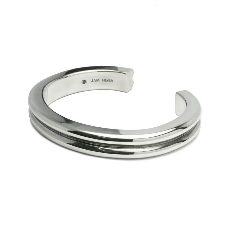【JAM HOME MADE(ジャムホームメイド)】B型 バングル L -NEW TYPE- メンズ シルバー 925 人気 おすすめ ブランド シンプル ブレスレット ダイヤモンド ネイティブ 高級