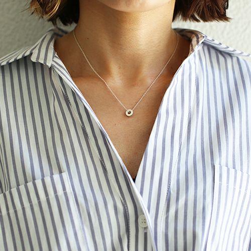 ネックレス / O型 ネックレス -NEW TYPE- メンズ レディース ペア シルバー 人気 ブランド おすすめ 血液型 誕生日 プレゼント ギフト クリスマス シンプル 小ぶり