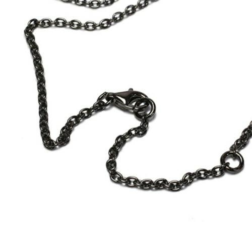 ネックレス / AB型 スティックネックレス BLACK -NEW TYPE- メンズ レディース ペア シルバー ダイヤモンド 人気 ブランド おすすめ 血液型 誕生日 プレゼント クリスマス シンプル