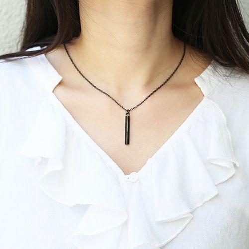 ネックレス / O型 スティックネックレス BLACK -NEW TYPE- メンズ レディース ペア シルバー ダイヤモンド 人気 ブランド おすすめ 血液型 誕生日 プレゼント クリスマス シンプル