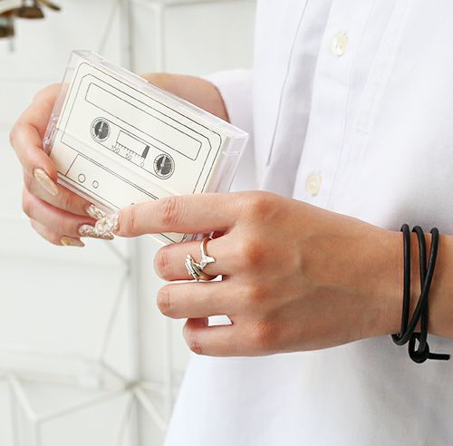【JAM HOME MADE(ジャムホームメイド)】ドルフィンリング / 指輪 メンズ レディース ペア シルバー 人気 ブランド おすすめ 本物 プレゼント 誕生日 ギフト Vaporwave ヴェイパーウェイヴ カセットテープ 重ね付け アナログ 音楽 ユニーク イルカ アニマル ハワイ