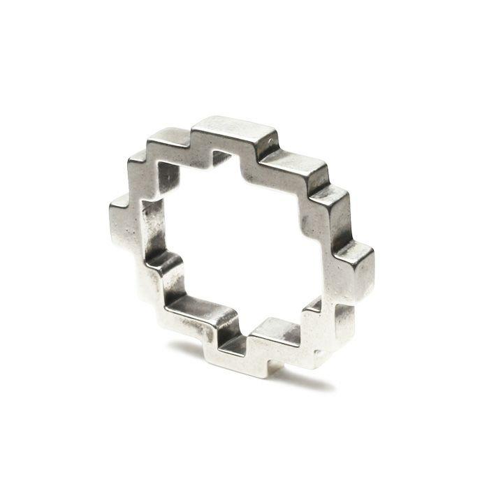 【JAM HOME MADE(ジャムホームメイド)】8ビットリング M / 指輪 メンズ レディース ペア シルバー 人気 ブランド おすすめ 8bit 本物 プレゼント 誕生日 ギフト Vaporwave ヴェイパーウェイヴ カセットテープ 重ね付け アナログ