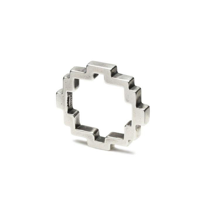 指輪 / 8ビットリング S メンズ レディース ペア シルバー 人気 ブランド おすすめ 8bit 本物 プレゼント 誕生日 ギフト Vaporwave ヴェイパーウェイヴ カセットテープ 重ね付け アナログ 音楽 ユニーク