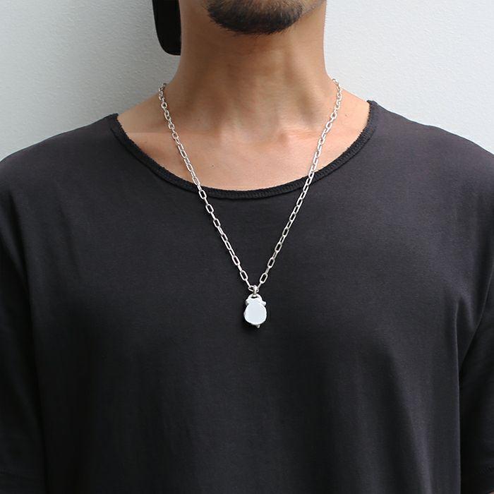 ストーンスタチュー ネックレス WHITE -EYE- / ネックレス